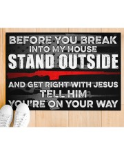 """Amendment Before you break into my house  Doormat 34"""" x 23"""" aos-doormat-34-x-23-lifestyle-front-03"""