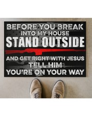 """Amendment Before you break into my house  Doormat 34"""" x 23"""" aos-doormat-34-x-23-lifestyle-front-04"""