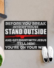 """Amendment Before you break into my house  Doormat 34"""" x 23"""" aos-doormat-34-x-23-lifestyle-front-07"""