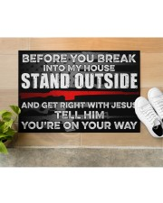 """Amendment Before you break into my house  Doormat 34"""" x 23"""" aos-doormat-34-x-23-lifestyle-front-12"""