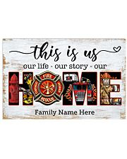 Firefighter This is us Horizontal Poster tile