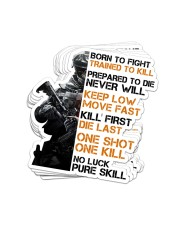 Veteran048 Born To Fight Sticker - 8 pack (Vertical) front
