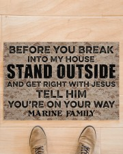 "MR Before you break into my house Doormat 34"" x 23"" aos-doormat-34-x-23-lifestyle-front-02"