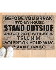 "MR Before you break into my house Doormat 34"" x 23"" aos-doormat-34-x-23-lifestyle-front-03"
