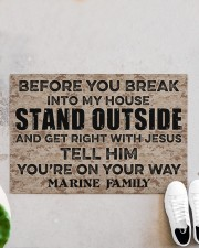 "MR Before you break into my house Doormat 34"" x 23"" aos-doormat-34-x-23-lifestyle-front-06"