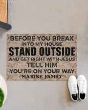 "MR Before you break into my house Doormat 34"" x 23"" aos-doormat-34-x-23-lifestyle-front-07"