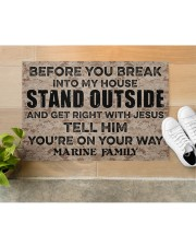 "MR Before you break into my house Doormat 34"" x 23"" aos-doormat-34-x-23-lifestyle-front-12"