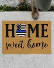 "Police Home sweet home Doormat 34"" x 23"" aos-doormat-34-x-23-lifestyle-front-01"