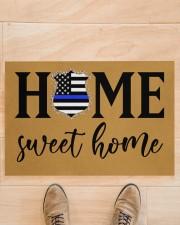 "Police Home sweet home Doormat 34"" x 23"" aos-doormat-34-x-23-lifestyle-front-02"