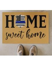 "Police Home sweet home Doormat 34"" x 23"" aos-doormat-34-x-23-lifestyle-front-04"