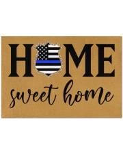 """Police Home sweet home Doormat 34"""" x 23"""" front"""