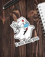 Nurse I will stab you Sticker - Single (Vertical) aos-sticker-single-vertical-lifestyle-front-05