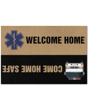 """Paramedic Come home safe Doormat 34"""" x 23"""" front"""