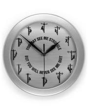 Lineman You may see me struggle  Wall Clock front