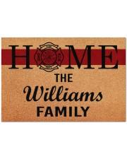 """Firefighter Home  Doormat 34"""" x 23"""" front"""