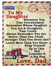 Trucker To my daughter Fleece Blanket tile