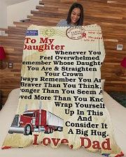 "Trucker To my daughter Large Fleece Blanket - 60"" x 80"" aos-coral-fleece-blanket-60x80-lifestyle-front-04"