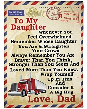 "Trucker To my daughter Large Fleece Blanket - 60"" x 80"" front"
