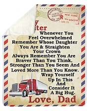 "Trucker To my daughter Sherpa Fleece Blanket - 50"" x 60"" thumbnail"