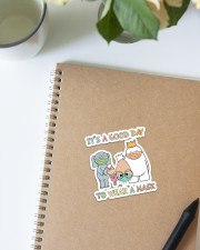Teacher It's a good day Sticker - Single (Vertical) aos-sticker-single-vertical-lifestyle-front-16