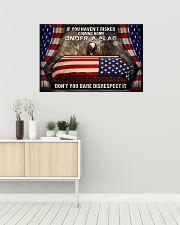 Veteran Under a flag  36x24 Poster poster-landscape-36x24-lifestyle-01