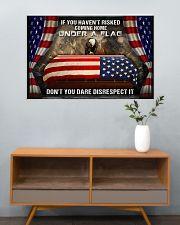 Veteran Under a flag  36x24 Poster poster-landscape-36x24-lifestyle-21