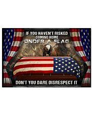 Veteran Under a flag  Horizontal Poster tile