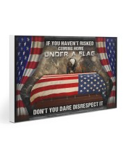 Veteran Under a flag  30x20 Gallery Wrapped Canvas Prints thumbnail
