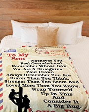 "Lineman To my son LineBlanket249 Large Fleece Blanket - 60"" x 80"" aos-coral-fleece-blanket-60x80-lifestyle-front-02"