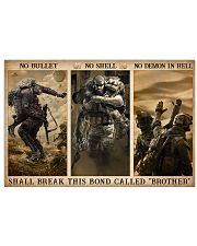 Veteran No bullet no shell 36x24 Poster front