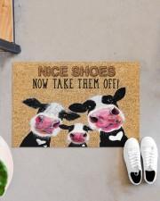 "Farmer Dairy Cattle Nice shoes Doormat 34"" x 23"" aos-doormat-34-x-23-lifestyle-front-07"