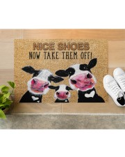 "Farmer Dairy Cattle Nice shoes Doormat 34"" x 23"" aos-doormat-34-x-23-lifestyle-front-12"