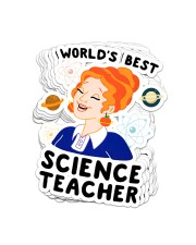 Science58 Teacher World's Best Sticker - 8 pack (Vertical) front