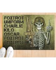 """Veteran Foxtrot  Doormat 34"""" x 23"""" aos-doormat-34-x-23-lifestyle-front-03"""