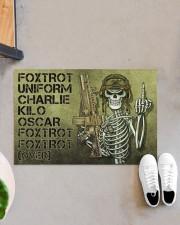 """Veteran Foxtrot  Doormat 34"""" x 23"""" aos-doormat-34-x-23-lifestyle-front-07"""