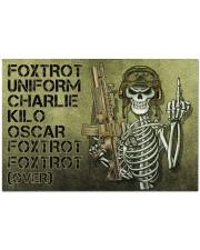 """Veteran Foxtrot  Doormat 34"""" x 23"""" front"""