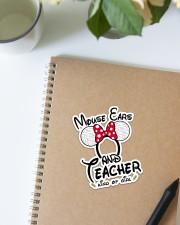 Teacher Mouse ears Sticker - Single (Vertical) aos-sticker-single-vertical-lifestyle-front-16