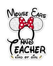 Teacher Mouse ears Sticker - Single (Vertical) front