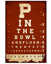 Optometrist flush then out the seat down Vertical Poster tile