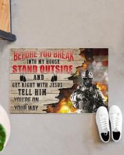 """Veteran Break into my house  Doormat 34"""" x 23"""" aos-doormat-34-x-23-lifestyle-front-07"""