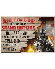 """Veteran Break into my house  Doormat 34"""" x 23"""" front"""