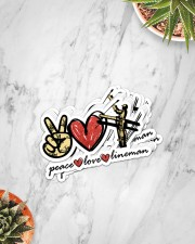 Peace Love Lineman  Sticker - 8 pack (Vertical) aos-sticker-8-pack-vertical-lifestyle-front-06
