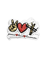 Peace Love Lineman  Sticker - 8 pack (Vertical) front