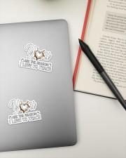 Teacher317 You are the reason  Sticker - 2 pack (Vertical) aos-sticker-2-pack-vertical-lifestyle-front-19