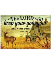 "Farmer The god will keep your going out Doormat 34"" x 23"" front"