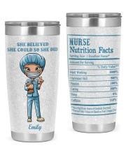 Nurses She believed she could 20oz Tumbler front