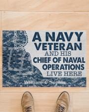 "NV Veteran and his Chief of Naval Doormat 34"" x 23"" aos-doormat-34-x-23-lifestyle-front-02"