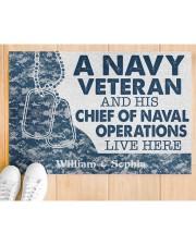 "NV Veteran and his Chief of Naval Doormat 34"" x 23"" aos-doormat-34-x-23-lifestyle-front-03"