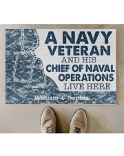 "NV Veteran and his Chief of Naval Doormat 34"" x 23"" aos-doormat-34-x-23-lifestyle-front-04"