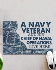 "NV Veteran and his Chief of Naval Doormat 34"" x 23"" aos-doormat-34-x-23-lifestyle-front-06"